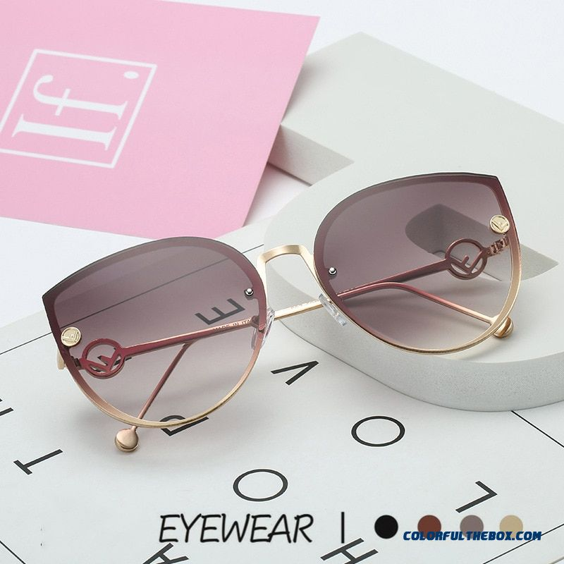 Toyearn 2019 New Luxury Italy Brand Designer Lady Cat Eye Sunglasses Women Vintage Rimless Gradient Sun Glasses For Female Uv400