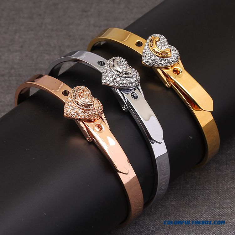 Tri-color Hearts Shaped Diamond Adjustedbracelet Women Hot Sale On Web Free Shipping Fine Jewelry