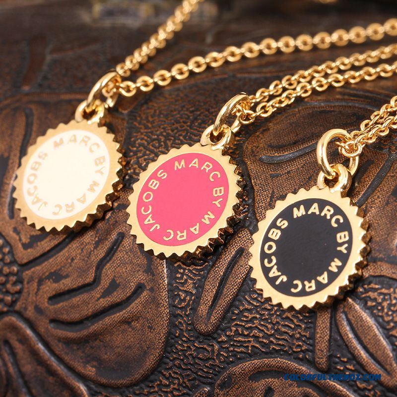 Tricolor Round Brand Gear Necklace European And American Style Gear New Listing Women's Pendant Gold-plated Fine Jewelry