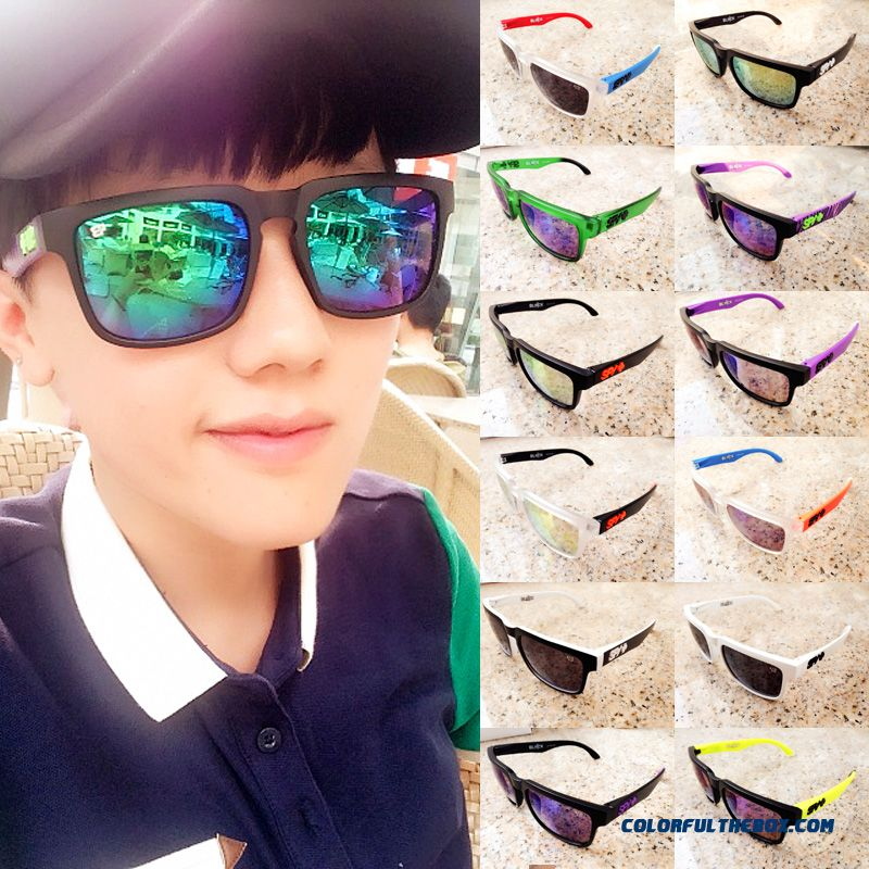 Unisex Candy Color Frame Polarized Sunglasses Adolescent Men Personality Dark Glasses
