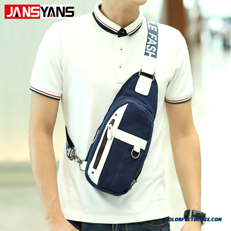 Unisex Canvas Bags Men Outdoor Sports Crossbody Bags Chest Bag