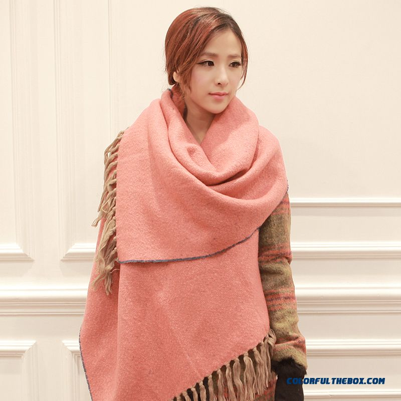 Utility Designed Specifically For Story Women Doul-sided Elegant Fringed Scarf Shawl Ladies