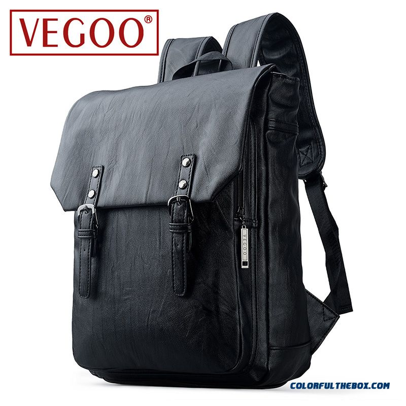 Vegoo Korean Version Design Of The Retro Handbag Shoulder Bag Casual Bag Men's First Layer Of Leather Travel Bags