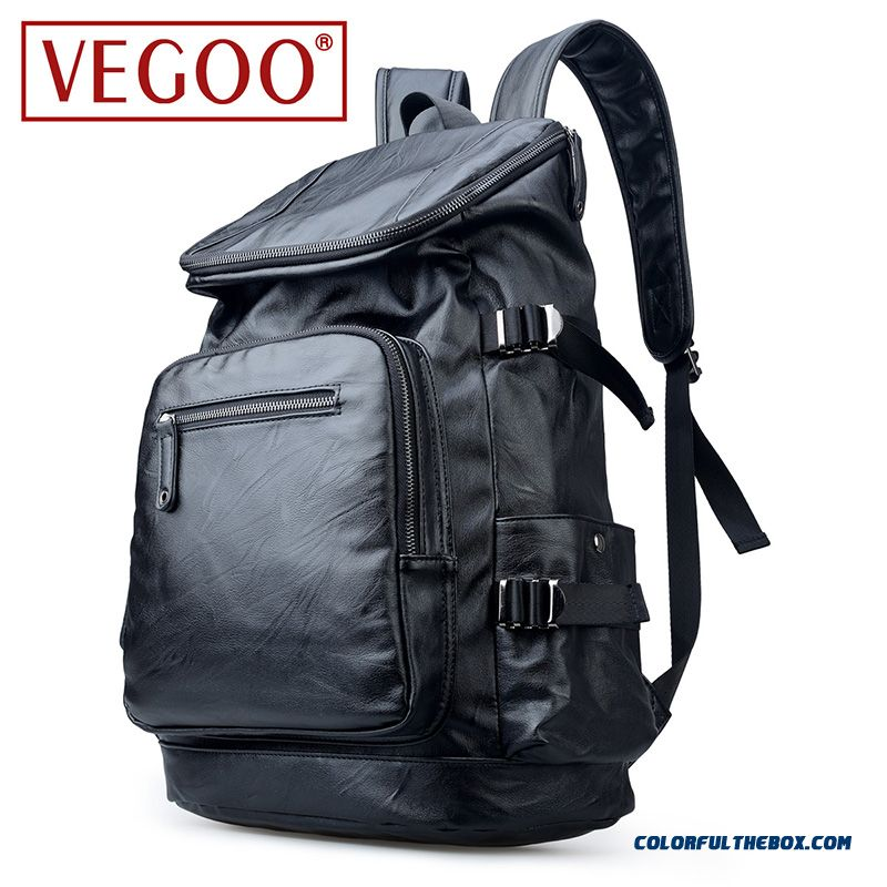 Vegoo Retro Package Handbag Shoulder Bag Men's First Layer Of Leather Travel Bags Laptop Bag Fashion