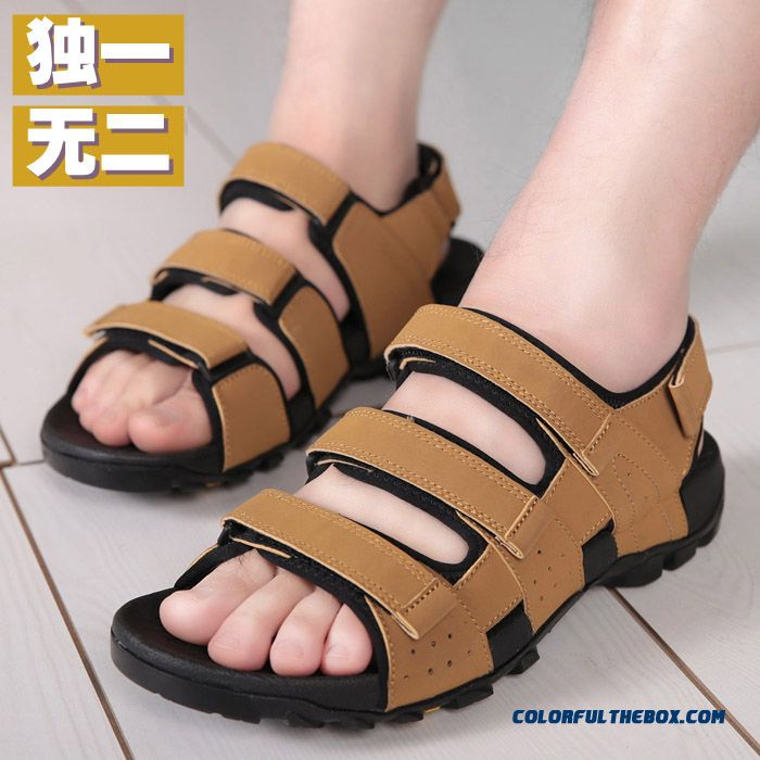 Vietnamese Shoes Men Personality Summer Sandals Heavy-bottomed Antiskid