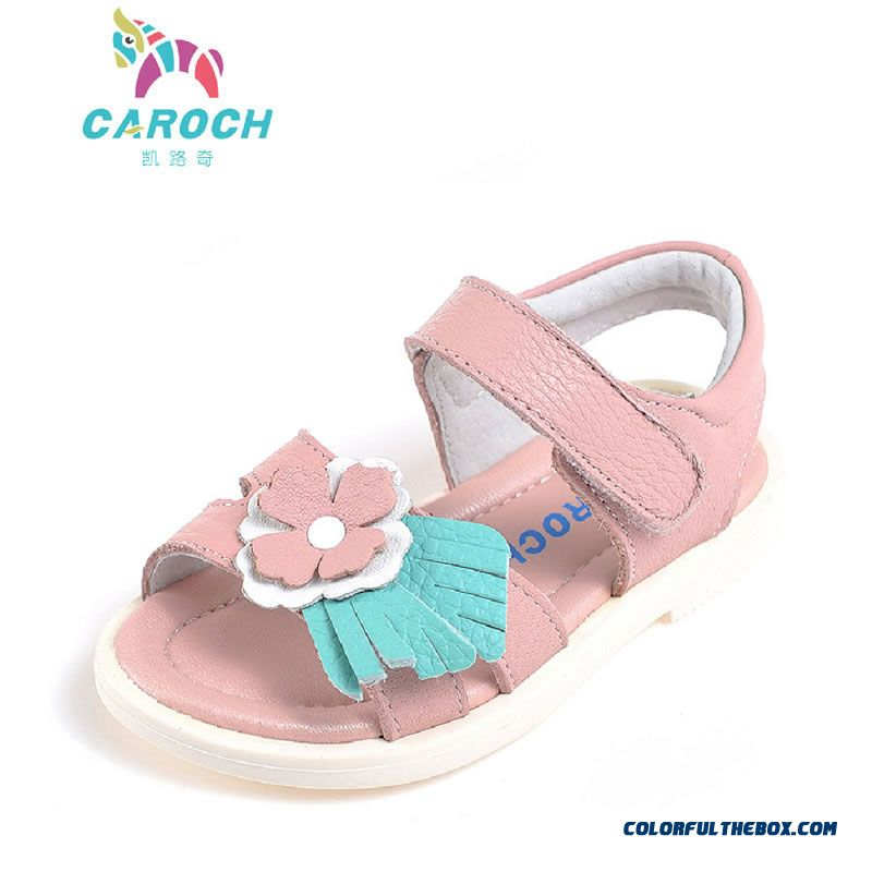 Vigorous Strides Genuine Leather Shoes Anti-slip Sandals Korean Style Kids Shoes Designed Specifically For Girls - more images 1