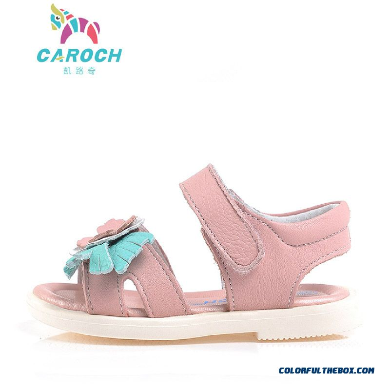 Vigorous Strides Genuine Leather Shoes Anti-slip Sandals Korean Style Kids Shoes Designed Specifically For Girls - more images 2