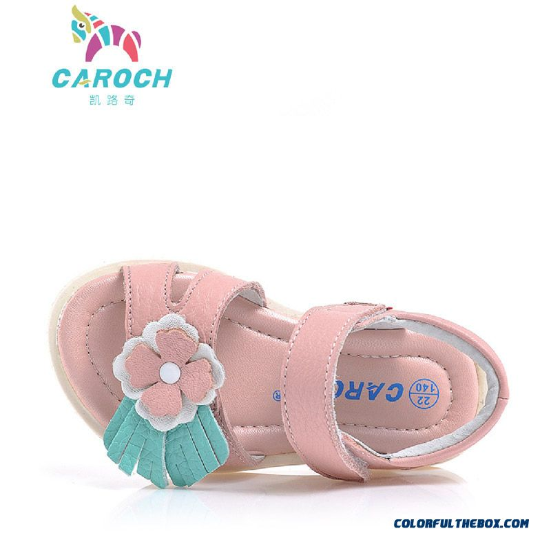 Vigorous Strides Genuine Leather Shoes Anti-slip Sandals Korean Style Kids Shoes Designed Specifically For Girls - more images 3