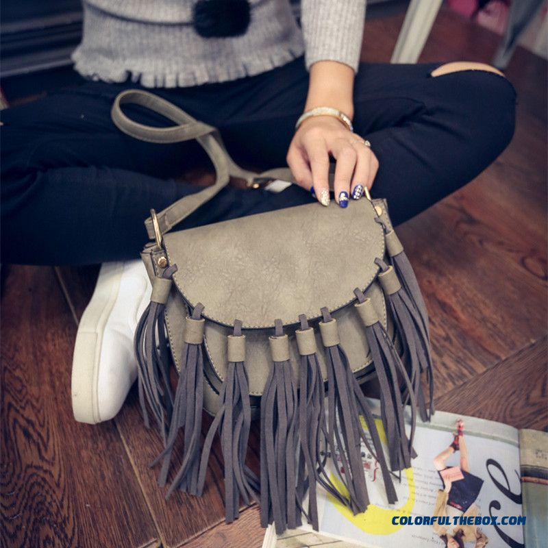 Vintage Fashion Tassel Bag Girls Women Crossbody Bags Special Offer In Autumn