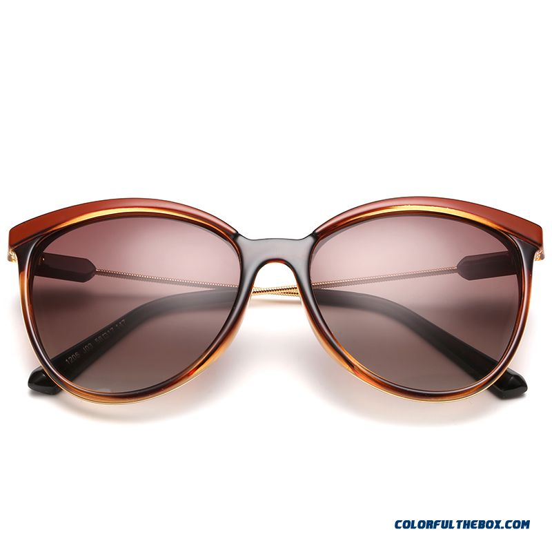 Vintage Round Frame Round Face Dark Glasses Spectacles Driving Chic Accessories For Women - more images 3