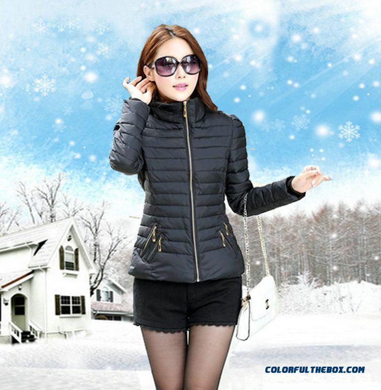 Vogue Winter New 2015 Female Coats Thicken Short Red Yellow Green Soldes