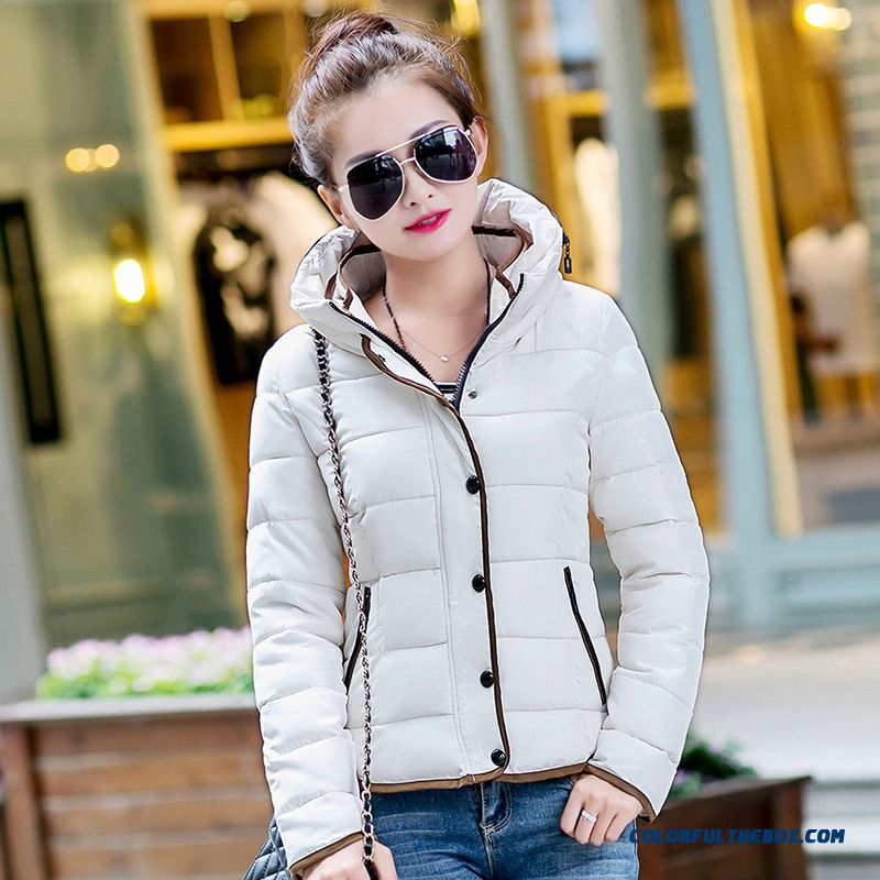 Vogue Winter New 2015 Female Coats Thin Slim Yellow Purple Cotton Clothing