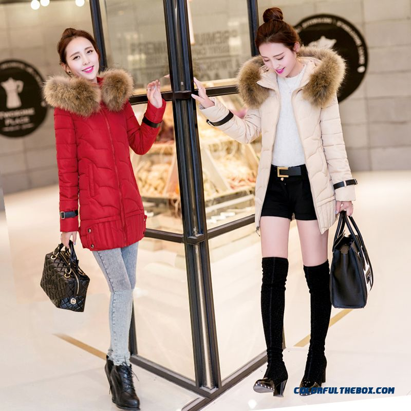 Vogue Winter New 2015 Female Ovo Collar Korean Version Thin Thick Warm Coat - more images 1