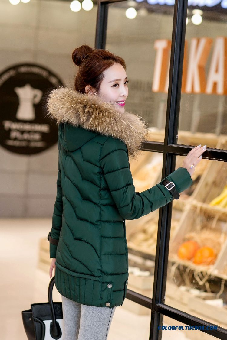 Vogue Winter New 2015 Female Ovo Collar Korean Version Thin Thick Warm Coat - more images 2