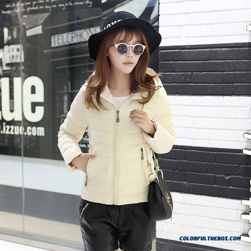 Vogue Winter New Female Coats Cheap Large Short White Blue Cute Student