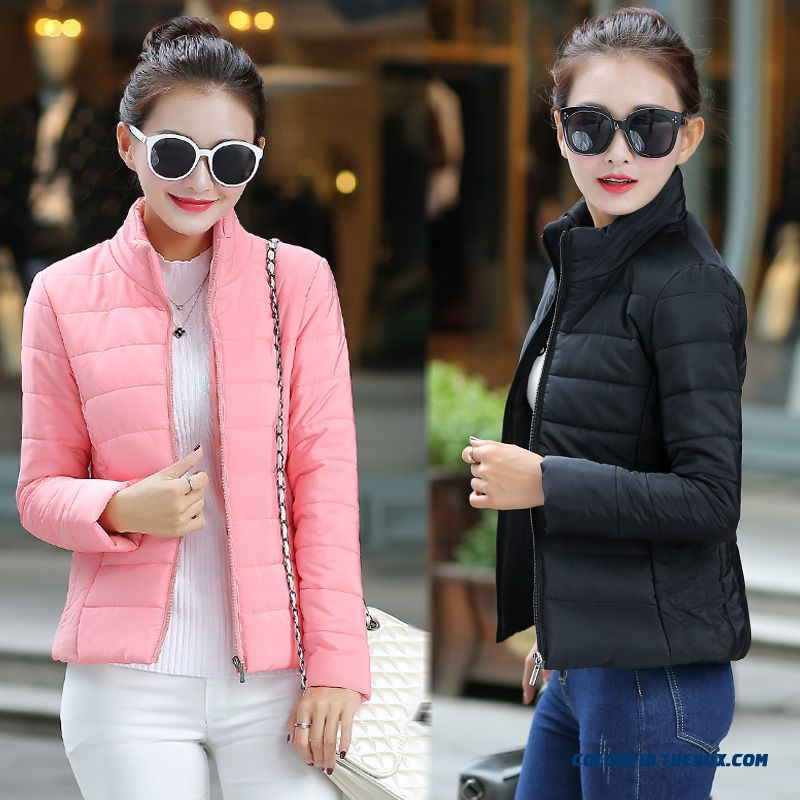 Vogue Winter New Female Coats Short Thin Pink Yellow Black Cheap