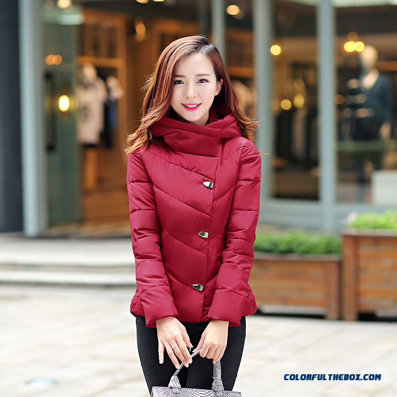 Vogue Winter New Female Hooded Coats Thick Large Red Free Shipping
