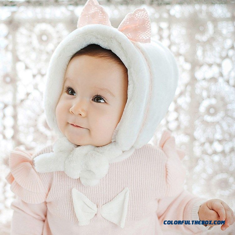 40d8a2639 Cheap Warm Design 0-3-6 Month Infant In Autumn And Winter Accessories Girls  And Boys Plus Velvet Protect Ear Kids Cap Sale Online