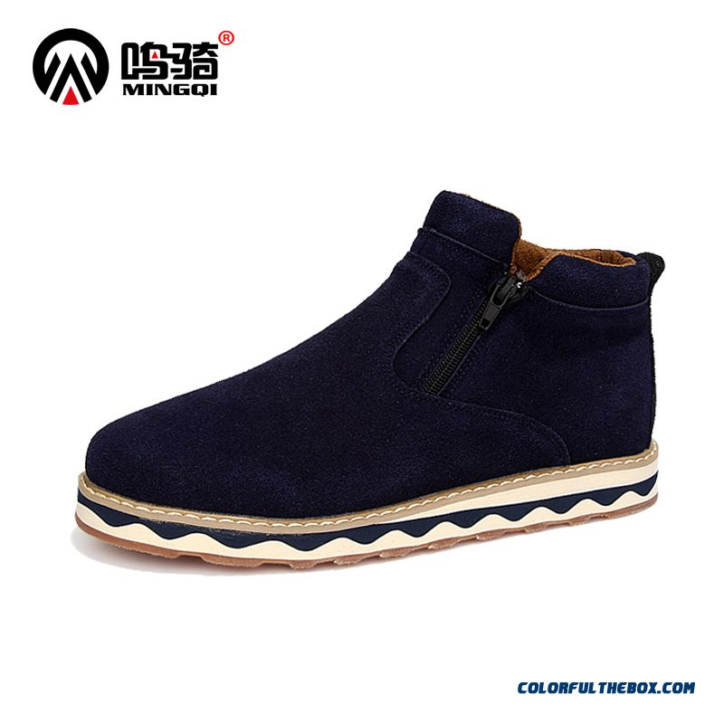 Warm Plus Velvet Casual Shoes Short Cotton Men Boots Free Shipping