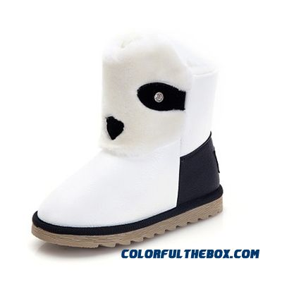 Waterproof Half Boots Snow Boots Korean Version Of Thickened Warm Boots Cartoon Boots