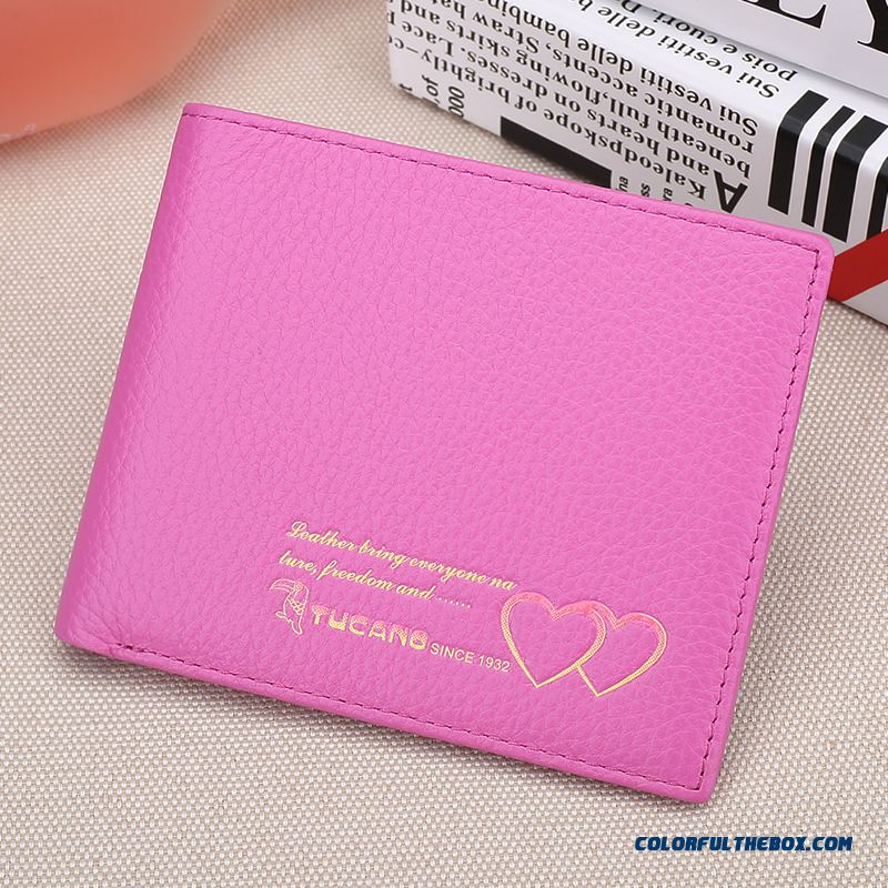 Wholesale And Retail Women Short Wallets Genuine Leather First Layer Of Leather Change Purse Bags New