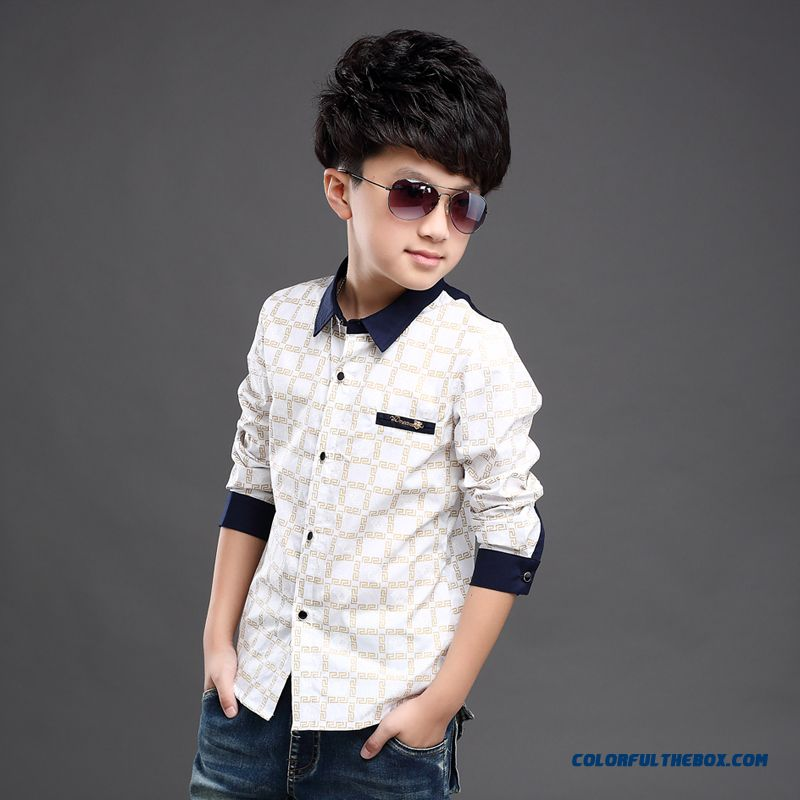 Wholesale High Quality Kids Blouses Long-sleevedshirts For Boys - more images 1