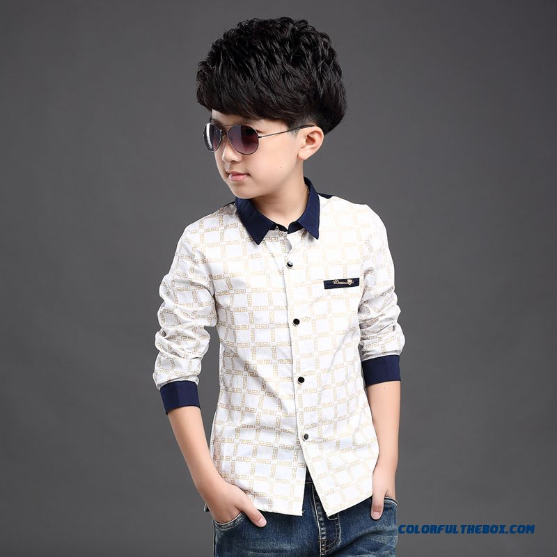 Wholesale High Quality Kids Blouses Long-sleevedshirts For Boys - more images 2