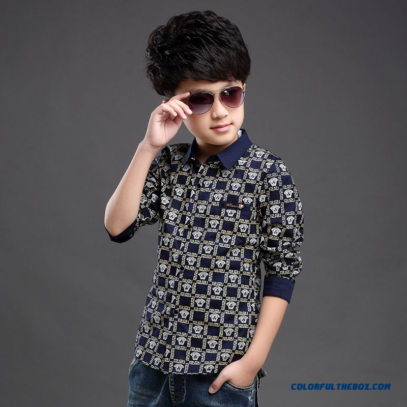 Wholesale High Quality Kids Blouses Long-sleevedshirts For Boys - more images 3