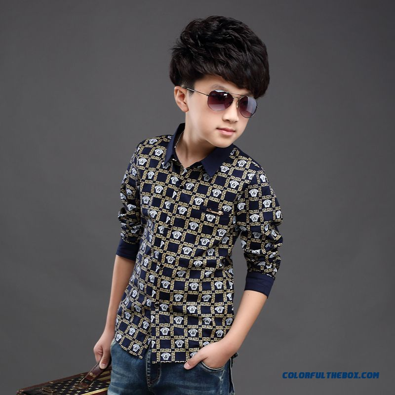 Wholesale High Quality Kids Blouses Long-sleevedshirts For Boys - more images 4