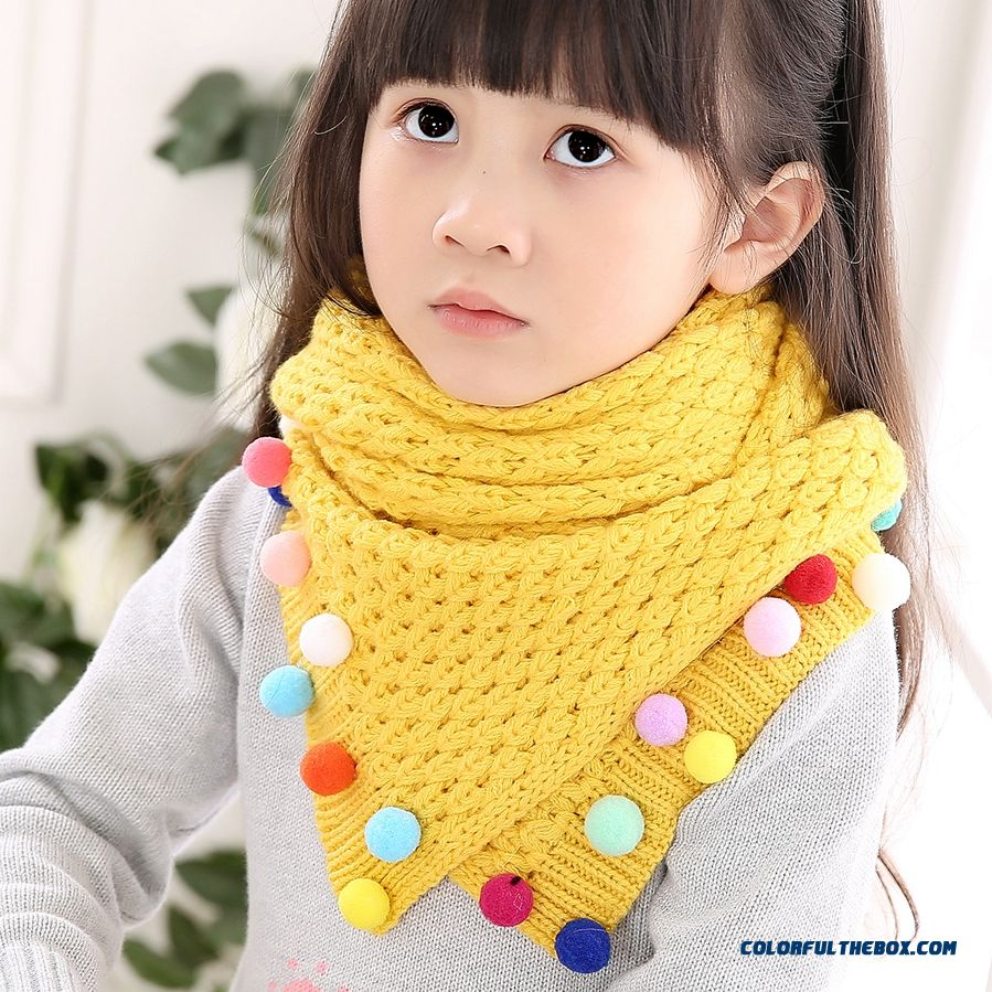 Wholesale Kids Winter Warm Cute Scarfkids Winter Warm Cute Wool Scarf Breathable Casual Accessories For Girls - more images 1