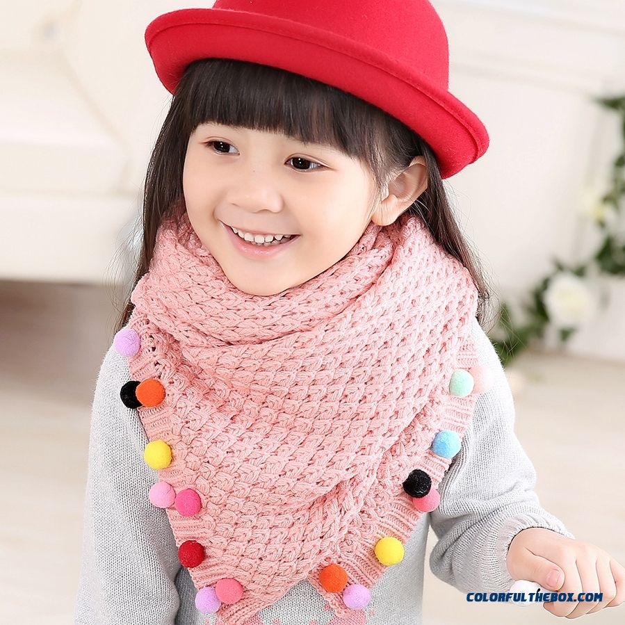 Wholesale Kids Winter Warm Cute Scarfkids Winter Warm Cute Wool Scarf Breathable Casual Accessories For Girls - more images 2
