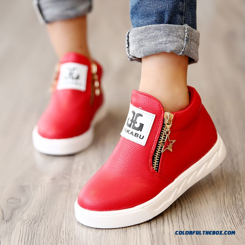 Wholesale Low Price High Quality Boys And Girls Winter Cotton Leather Boots Shoes For Kids