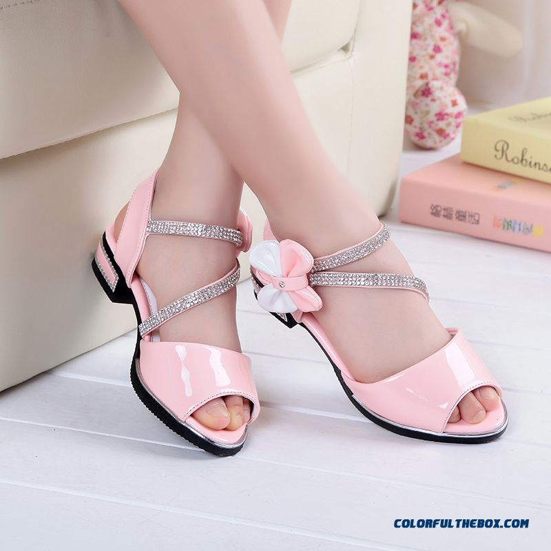 Wholesale Low Price High Quality Kids Shies White Student Shoes Princess Shoes Authentic Girls Sandals - more images 2