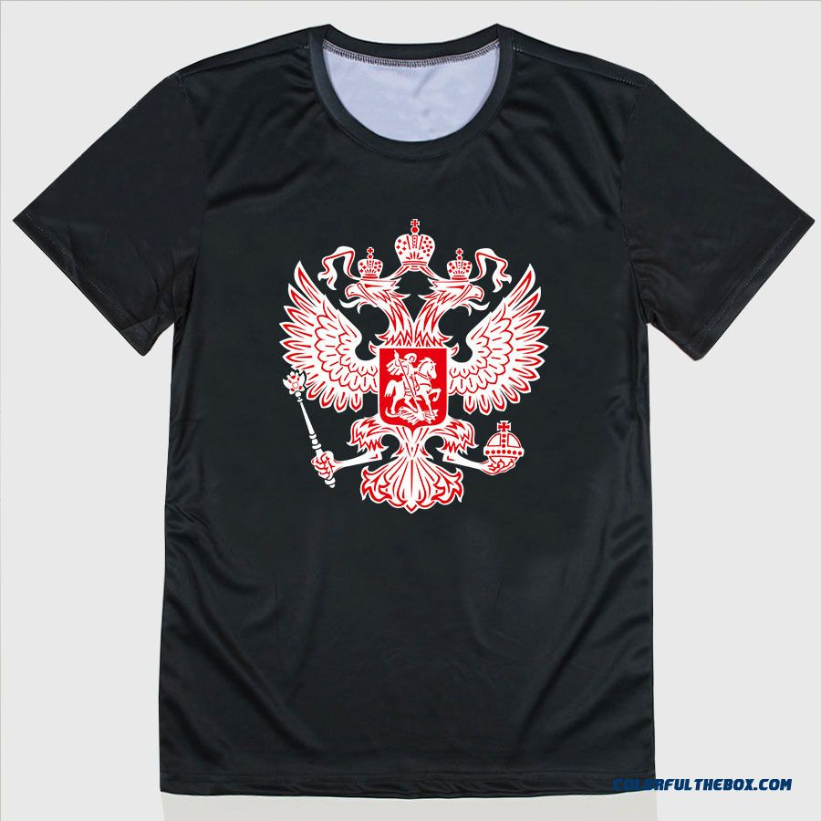Wholesale Russia Men T Shirt The State Hermitage Museum Unique Logo Design Short Sleeve Fashion Vladimir T-shirt