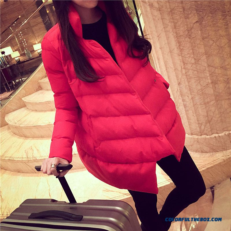 Winte Female Cotton-padded Clothes Jacket Thin And Long Loose Thick Warmcoat