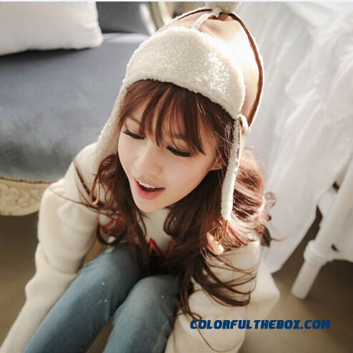 Winter Accessories Pure Color Cotton Hat Cute Pompons Lei Feng Hat Women Teenage Girls Free Shipping