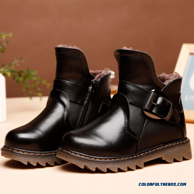 Winter Boys Boots Leather Boots Shoes 2016 New Free Shipping