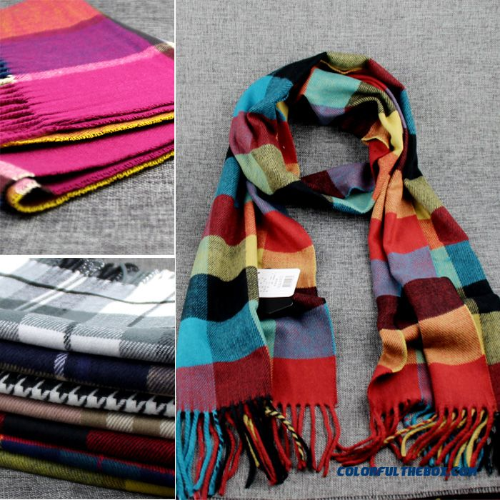 Winter Classic Plaid Accessories Boutique Fabrics Boys And Girls Kids Babies Cashmere Scarf