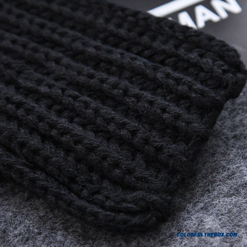 Winter Cute Little Striped Wool Scarves Thicken Warm Kinted Young Women Accessories - more images 4