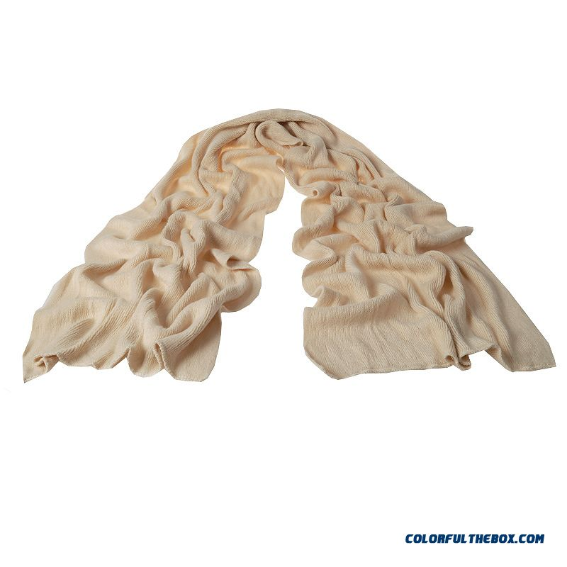 Winter Daisuo Brand Men's Warm Knitted Wool Long Scarves Pure Color Simple Couple Scarves
