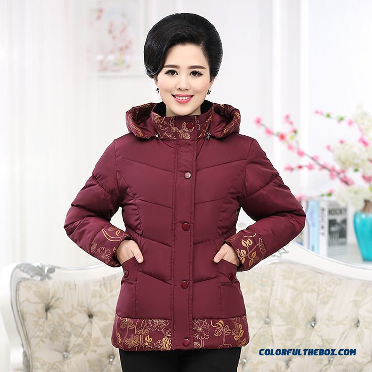 Winter Designed Exclusively Coats Jacket Women Dclothing Down Cotton Jacket Printing