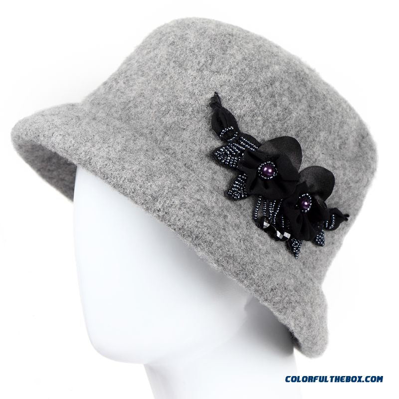 Winter Ear Protect Casual Cap Middle-aged Top Hat Mom Wool Hat For The Elderly