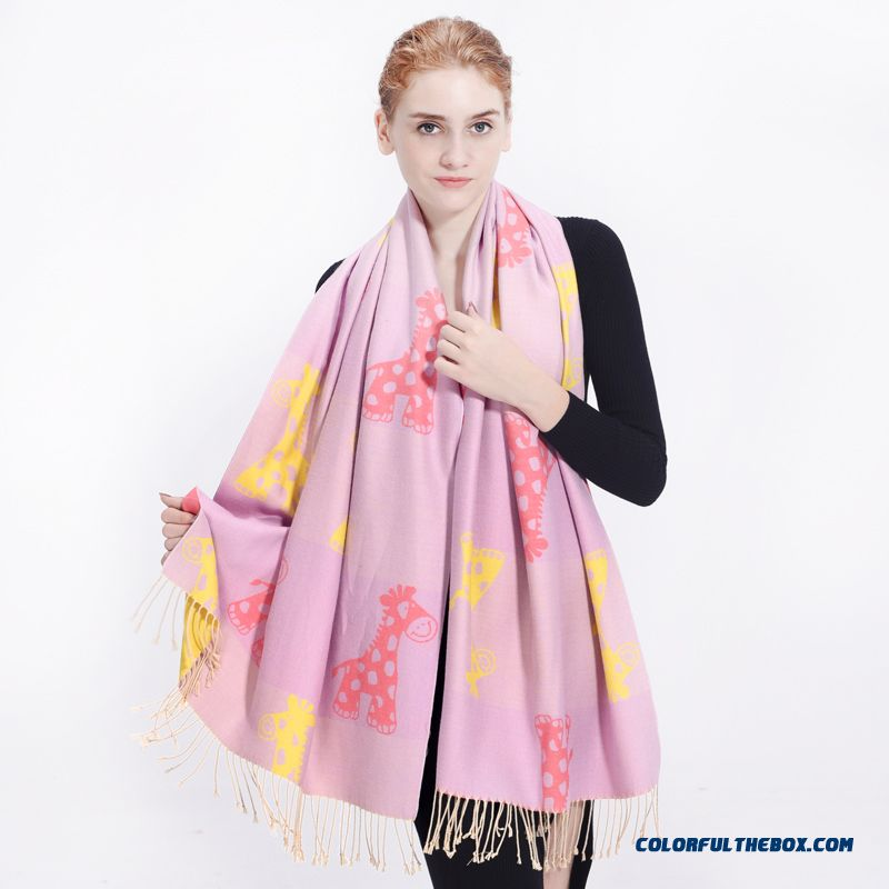 Winter Essential Scaves Accessories Women Sweet Candy-colored Cartoon Warm Scarves