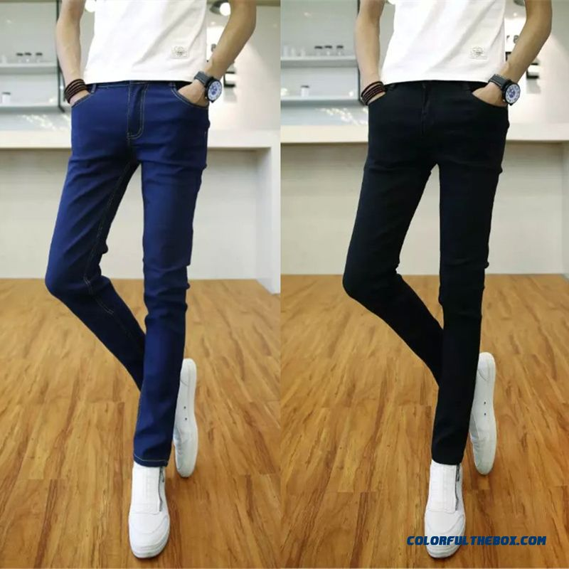 Winter Men Plus Velvet Thick Jeans Slim Straight Long Low Price High Quallity