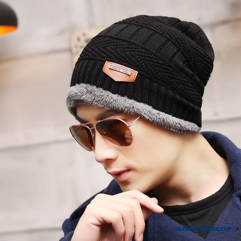 Winter Men's Accessories Hat Thick Knitted Weatherization Hat