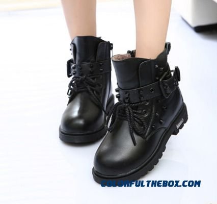 Winter New Boy Leather Boots Martin Boots Korean Version Of The Trend Of Casual Single Boots Brown Yellow Black Top Quality For Kids