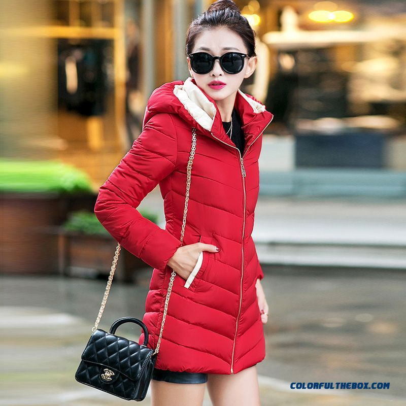 Winter New Coat Female Koreanmedium Length Thick Cotton Jacket Slim