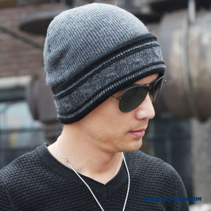 Winter New Design Of Proteced Ear Function Wool And Cashmere Knit Hat Men's Accessories