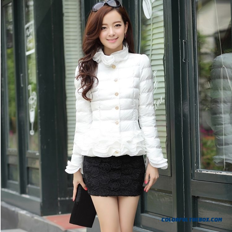 Winter New Female Coats Thickem Pwhite Green Black Young Fashion