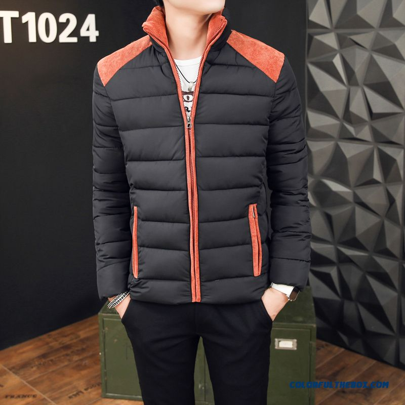 Winter New Men's Cotton Slim Thick Padded Cotton Jacke Youth